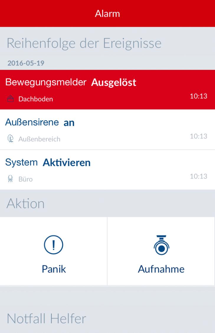 Test der Alarmierung per App bei der neuen ABUS Smartvest Alarmanlage.